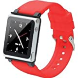 iWatchz CLRCHR22RED Q Collection Wrist Strap for iPod Nano 6G, Red