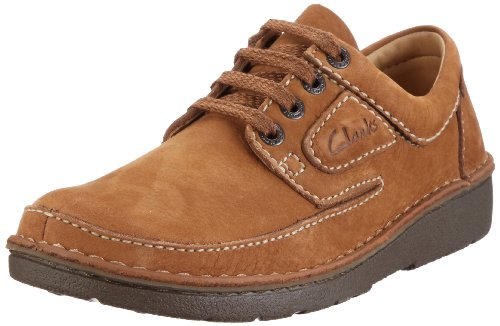Clarks Nature II Lace-Ups Mens Brown Braun (Birch Tumbled Nubuck) Size: 10.5 (44.5 EU)