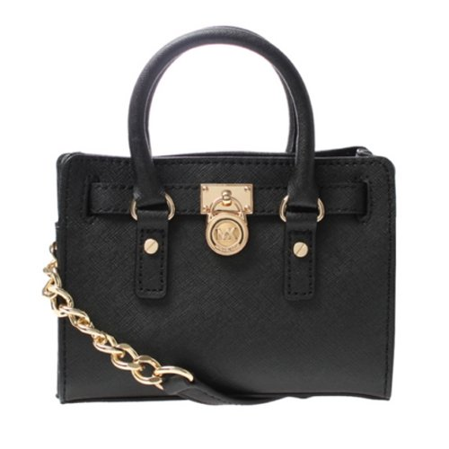 Michael Kors Hamilton 18K Mini Messenger (Black)