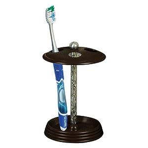 nu%20steel nu steel Toothbrush Holder, Silver Resin/Oil Rubbed Bronze