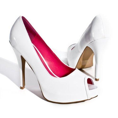 qupid s high heel open toe platform pumps stilettos