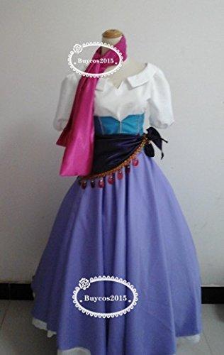 実物撮影 コスプレ衣装 ディズニー ノートルダムの鐘 エスメラルダ 女L オーダーサイズ可能