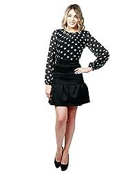Emmylyn Black Polka Dress