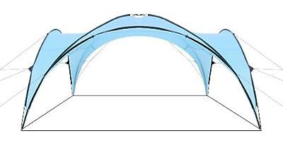 CampFeuer® - Event Pavillon, Event Shelter, 4,5 x 4,5 m, hellblau von CampFeuer auf Gartenmöbel von Du und Dein Garten