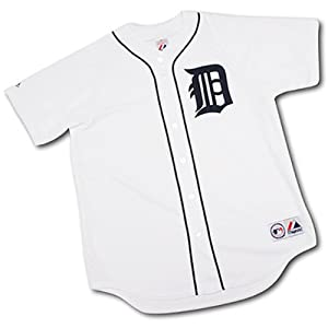 Detroit Tigers Big & Tall Replica White Jersey by Majestic Athletic