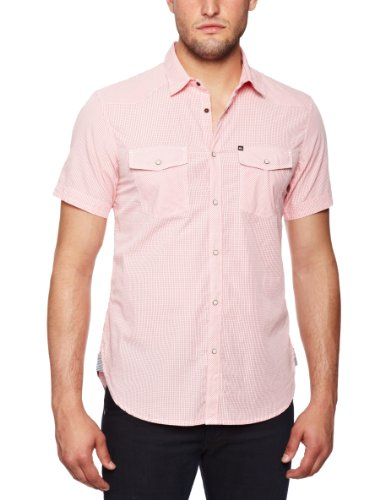 Quiksilver La Gingham Men's Shirt Strawberry X Large