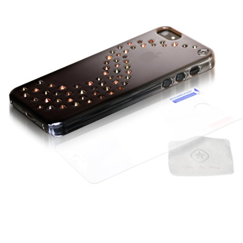 Best Price Bling-My-Thing Milky Way Series Metallic Mirror Case for iPhone 5 (Brown Autumn Leaves Mix)