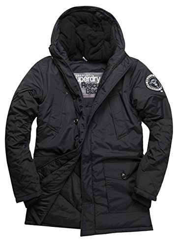 SUPERDRY Everest Parka, Giacca Uomo, Black02A, L