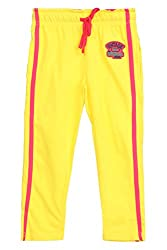 Chalk by Pantaloons Girl's Regular Fit Track Pant(205000005636634, Yellow, 4-5 Years)