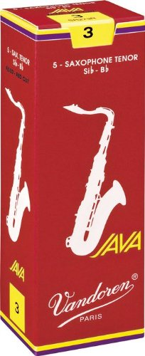 Vandoren Java Red Tenor Saxophone Reeds #3, Box