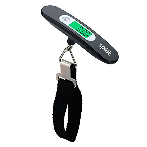 Spirit 110 Ib / 50 kg Digital Luggage Scale with Back-Lit LCD Display