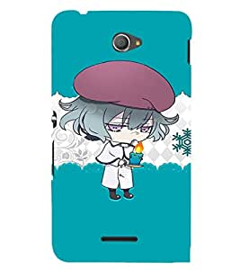 EPICCASE Girl with Blue Candy in Hand Mobile Back Case Cover For Sony Xperia E4 (Designer Case)