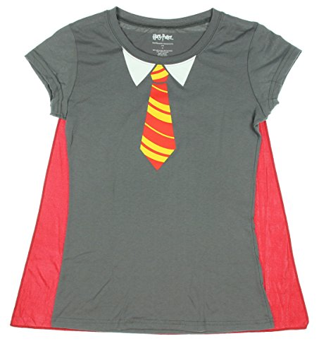 Harry Potter Women's Gryffindor Costume T-Shirt with Cape