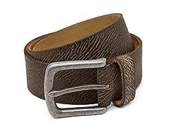Breakbounce Men's Leather Belt (8907066079525_Medium_Green)