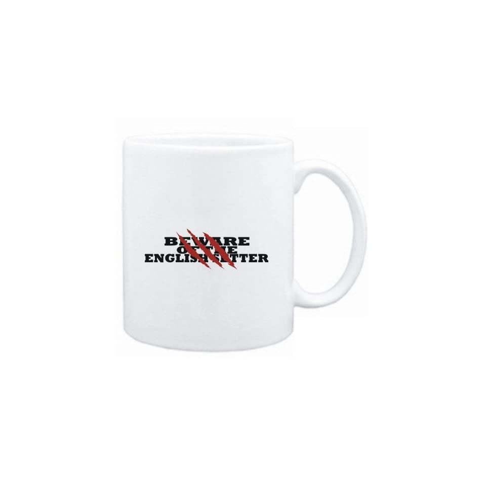Mug White  BEWARE OF THE English Setter  Dogs