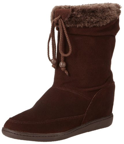 Skechers Women's Plus 3-Pyramids Wedge Boot,Chocolate,8 M US (Skechers 3 Plus compare prices)