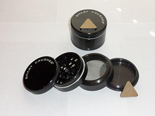 SMART CRUSHER 4 Piece Titanium Herb Coffee Pollen Grinder Magnetic & Press Combo (Coffee Press Titanium compare prices)