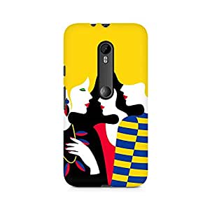 MOBICTURE Girl Abstract Premium Designer Mobile Back Case Cover For Moto X Style