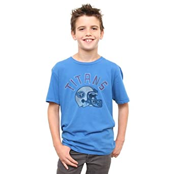 NFL Tennessee Titans Youth Kickoff Crew T-Shirt, Blue, Medium by Junk Food