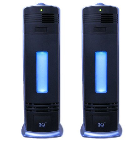 3Q AP04A Twin Pack Electrostrostatic Ionic Air Purifier, Cleaner