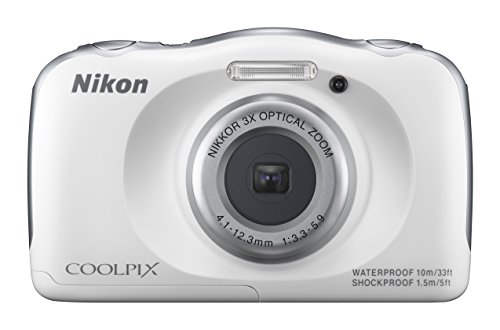 For Sale! Nikon COOLPIX S33 Waterproof Digital Camera (White)