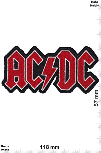 Patch - ACDC - AC DC - red - silver -black - Musicpatch - Rock - Vest - Chaleco - toppa - applicazione - Ricamato termo-adesivo - Give Away