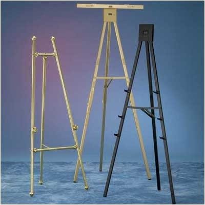 DR Series 5' Non-folding Poster Easel Color: Gold Anodized