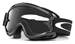 Oakley L-Frame Graphic Frame MX Goggles (Carbon Fiber/Clear Lens, One Size)