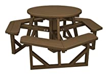 "Hot Sale POLYWOOD PH36TE Park 36"" Round Picnic Table, Teak"
