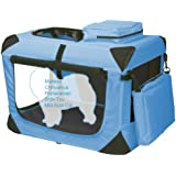 Pet Gear Generation II Deluxe Portable Soft Crate for Cats and Dogs up to 15-Pounds, Ocean Blue