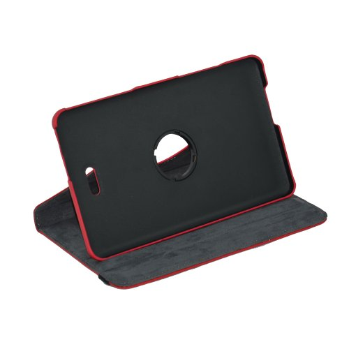 "Mama Mouth 360 Degree Rotating Stand Case For 8"" Dell New Venue 8 3840 Tablet 2014 Version/8 Inch Dell Venue 8 Pro Windows 8.1 Tablet Pc Red"
