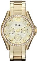 Fossil Riley Gold-Tone Ladies Watch ES3203