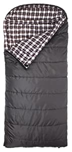TETON Sports Fahrenheit XXL COTTON Flannel Lined Sleeping Bag (90x 39, Grey) by Teton Sports