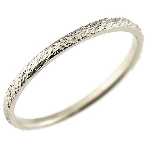 [アトラス] Atrus リング ピンキーリング プラチナ 指輪 ハンドメイド ストレート アンティーク 地金 まるで着けていない様な着け心地 極細 リング 華奢 ファッションリング 18号