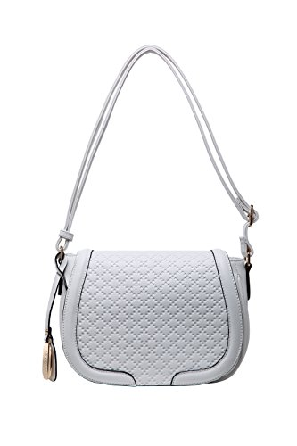 0d6b878dac Authentic BRANGIO (Italy) Pebbled Crossbody Bag with Adjustable Shoulder  Strap  TM7488-WH