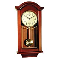 River City Clocks Chiming Regulator Wall Clock with Swinging Pendulum and Cherry Finish - 24 Inches Tall - Model # 6023C from River City Cuckoo Clock