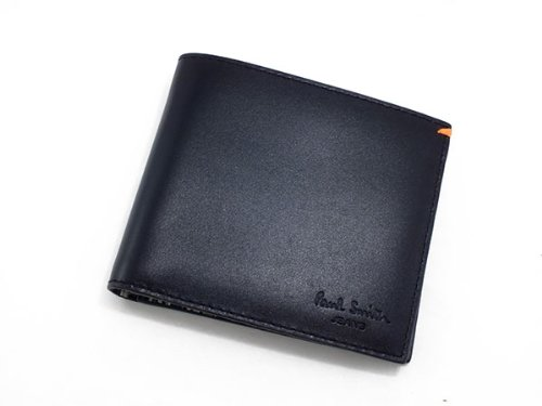 ポールスミス PAUL SMITH 二つ折り 短財布 AHXJ/2663/W510 ブラック