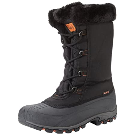 A faux fur collar adds stylish detail to this toasty and well-protected cold weather boot.