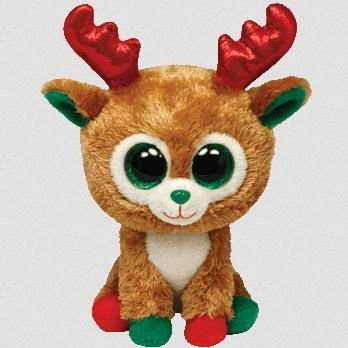 Alpine Reindeer Beanie Boo Medium - Arctic Stuffed Animal By Ty (36993) back-983307