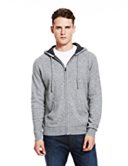 Autograph Pure Cashmere Hooded Zip Through Cardigan