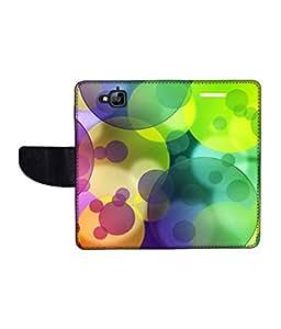 KolorEdge Printed Flip Cover For Huawei Enjoy 5 Multicolor - (1478-50KeMLogo11175HuaweiEjy5)
