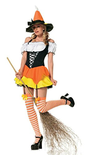 Leg Avenue Womens Kandy Korn Witch Outfit Fancy Dress Sexy Costume