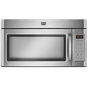 Maytag MMV6186WS 1.8 cu. ft. 1100 Watt Combination Range Hood Microwave - Stainless