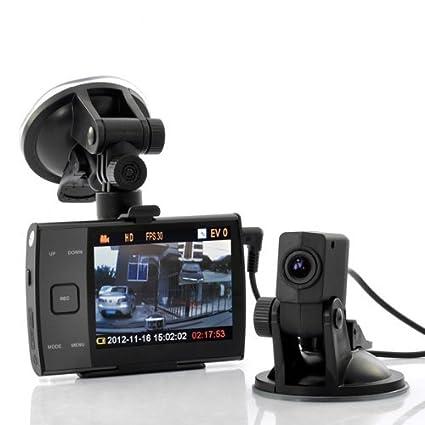 """Elephas S3000 Caméra double de voiture DVR avec écran 3,5 """" HD 720 p"""