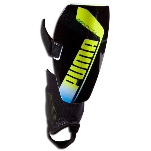 Puma Evospeed 3.2 Slip NOCSAE Soccer Shin Guard, Black, Small