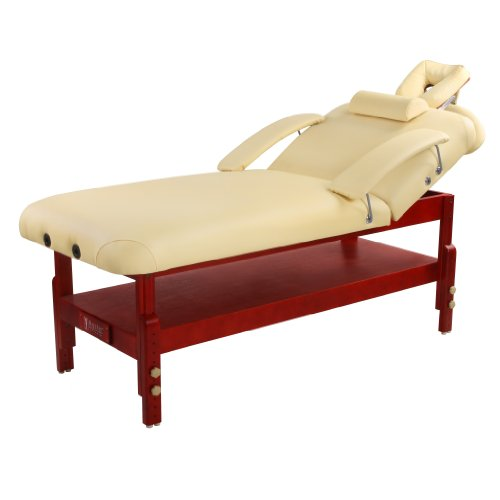 Master Massage Spamaster Series Stationary Lx Massage Table, Cream, 31 Inches X 72 Inches X 24 To 34 Inches front-589224