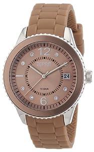Esprit - ES105342012 - Montre Femme - Quartz Analogique - Cadran Beige - Bracelet Silicone Beige