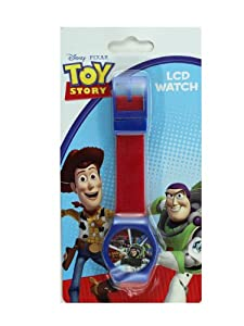 Red Jelly Band Toy Story Watch with Blue Trim - Childrens Digital Watch