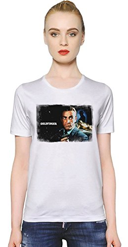 Goldfinger James Bond T-shirt donna Women T-Shirt Girl Ladies Stylish Fashion Fit Custom Apparel By Slick Stuff XX-Large