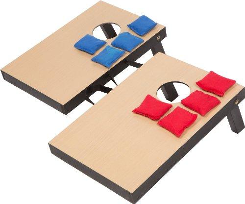 Trademark Innovations Miniature Indoor Desktop Bean Bag Toss Cornhole Game - 10 1/4